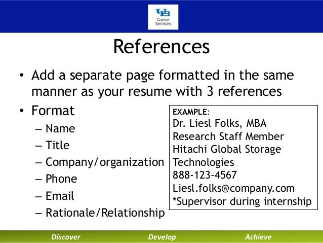 Resume References Template » Add References To Resume