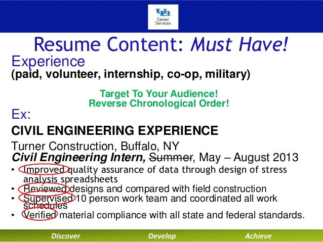 resume - Military Civil Engineer Sample Resume