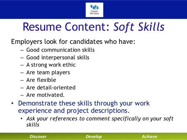 Resume Content: Soft Skills ...