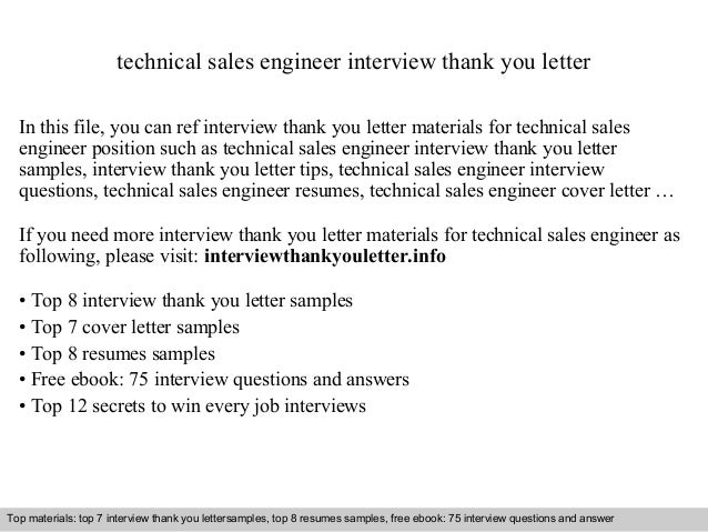 sales engineer cover letter