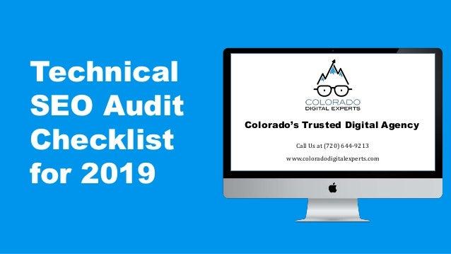 Technical SEO Audit Checklist for 2019 [Power Point Presentation] C…