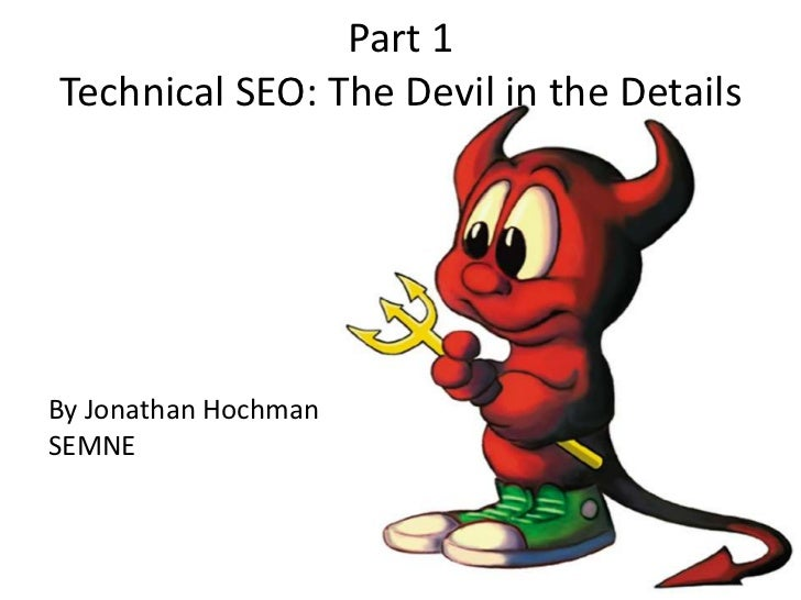 Technical SEO: The Devil in the Details (v2)