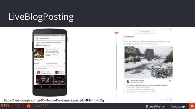 86#seocamp@LoukilAymen LiveBlogPosting https://plus.google.com/u/0/+GoogleDevelopers/posts/UMFfemnynCg