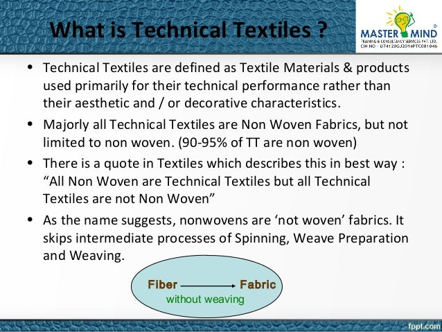 technical textile Welcome to our updated buyer's guide for the international technical textiles industry, a fully up-to-date listing of the major companies worldwide indexed by.