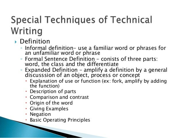 abcs of technical writing and its meaning