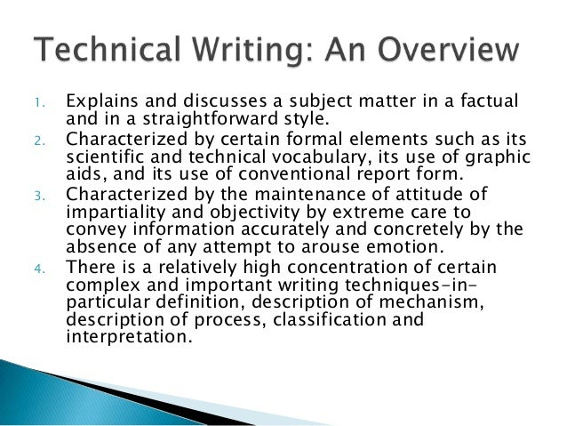 writing technical procedures