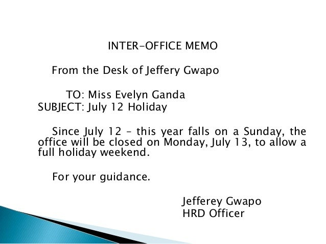 Doc585650 Sample of Announcement Memo 10 Audit Memo Templates – Sample of Interoffice Memo