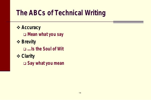 properties of technical writing ppt