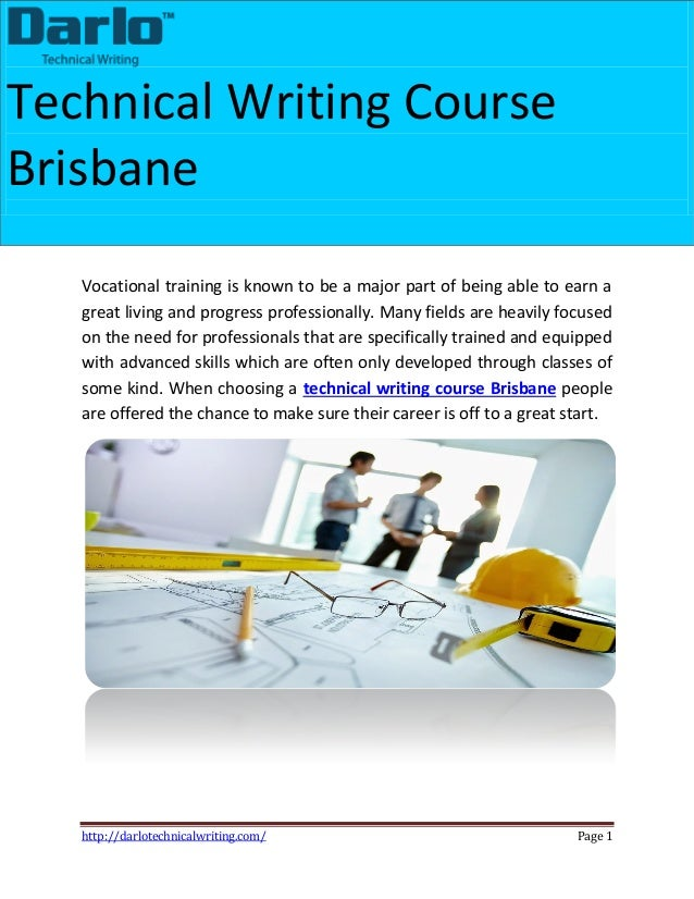 Technical report writing courses