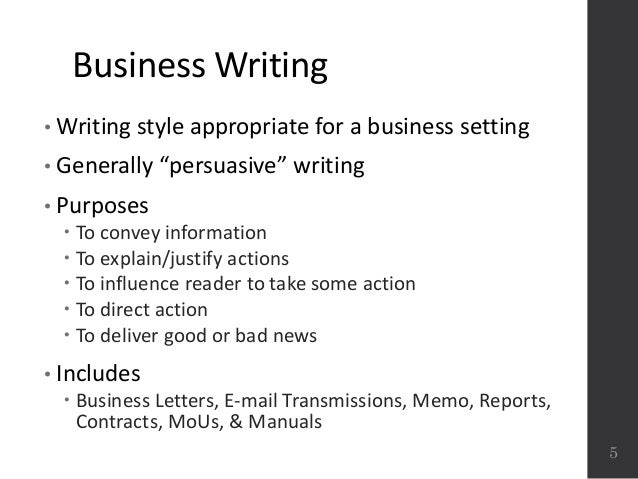 Business writing best practices