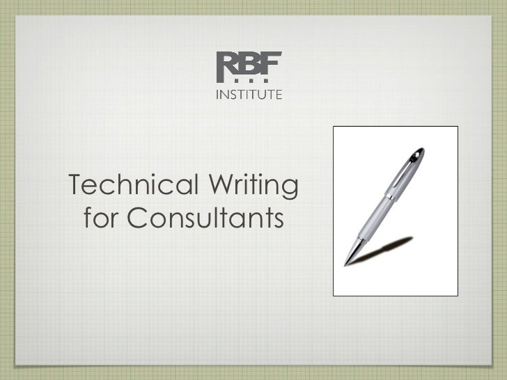 Technical Writing for Consultants