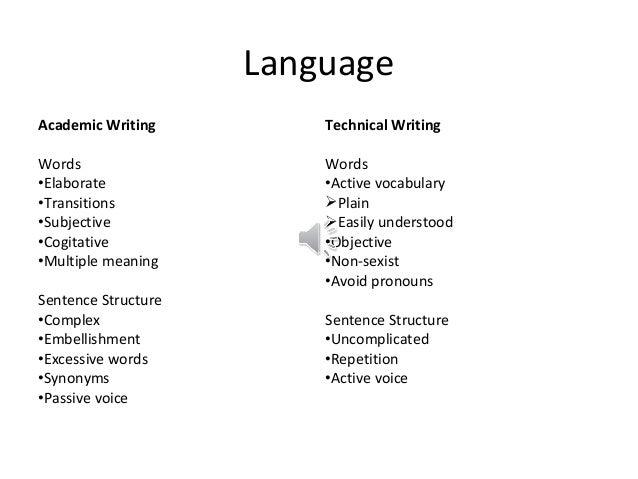 Academic writing type of sentence powerpoint