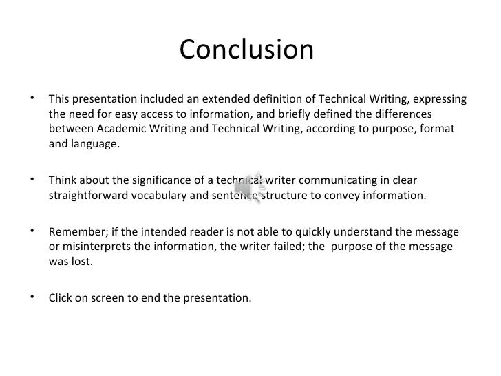 academic writing conclusion