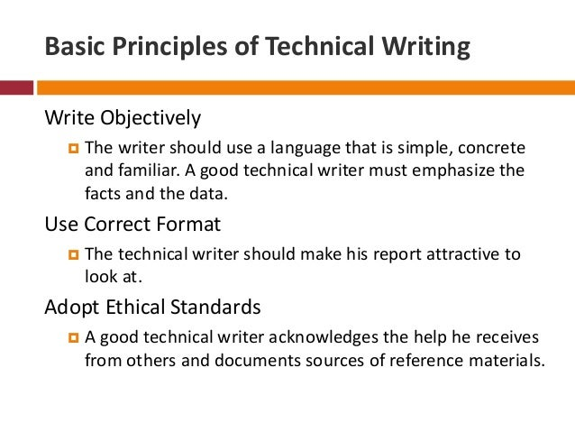 how to write a good technical writing