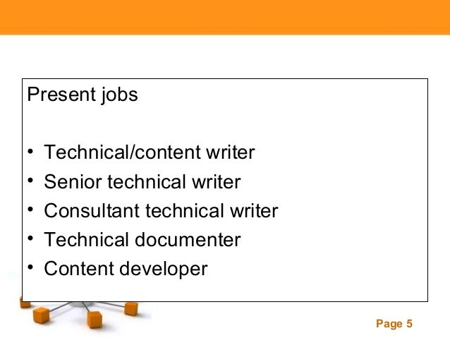 Technical writing services salary range
