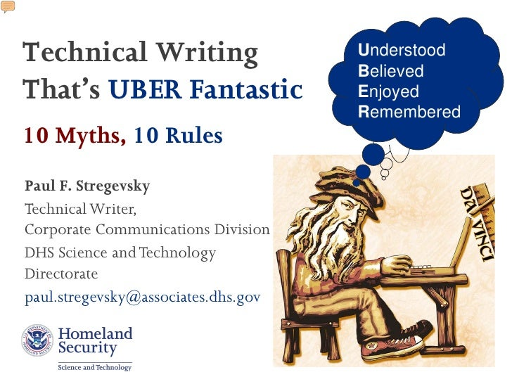 Technical Writing                    Understood                                     BelievedThat's UBER Fantastic         ...