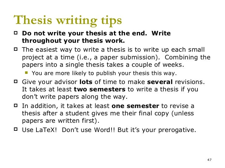 Complete your dissertation two semesters less
