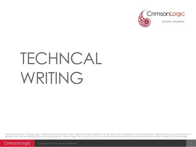 technical writing education Skillfully written technical material is able to clearly and concisely convey an understanding of new technologies, processes or concepts no matter the reading level.