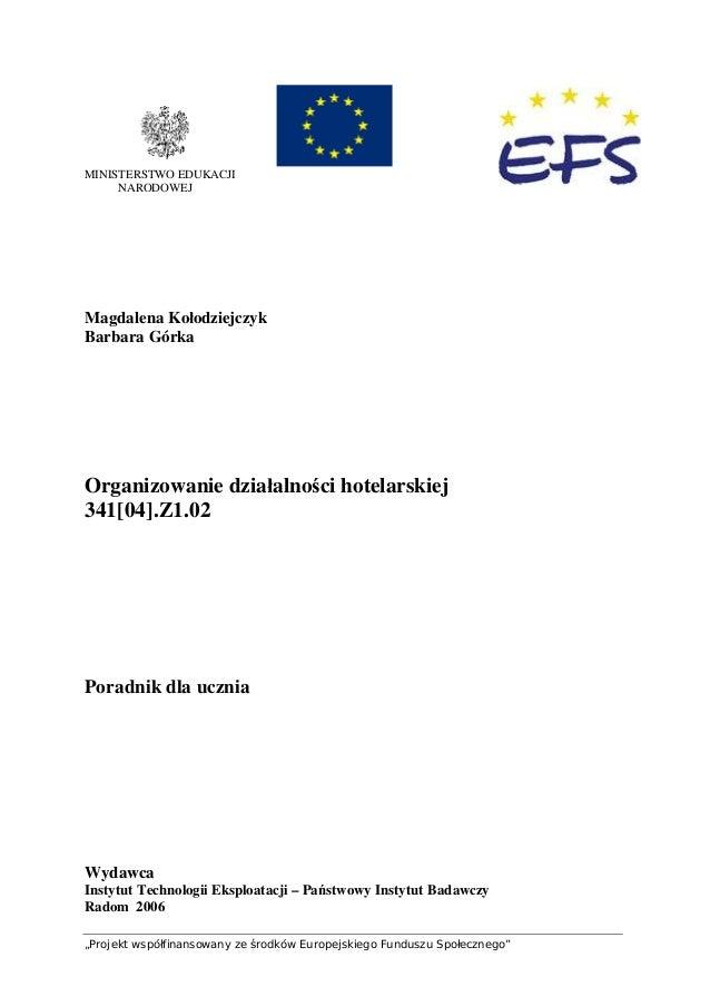 """""""Projekt współfinansowany ze środków Europejskiego Funduszu Społecznego"""" MINISTERSTWO EDUKACJI NARODOWEJ Magdalena Kołodzi..."""