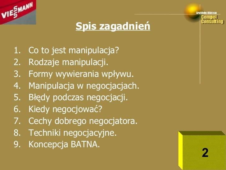 Techniki Negocjacyjne Cz  2 Slide 2