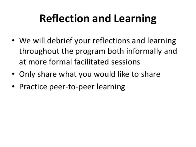 peer tutoring final reflection Grading: your final grade will be based on attendance, participation, a service-learning experience, a peer tutor evaluation, a reflection essay.