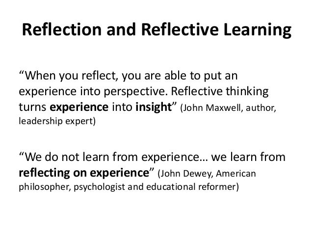 learning journal and reflection Journal reflection is submitted 2-3 days (49-72 hours) after the deadline journal   the exemplary mastery level articulates the highest learning outcome.