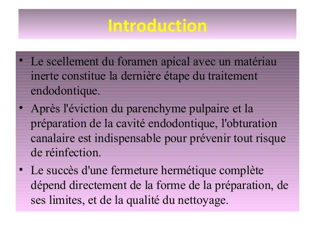 Technique d'obturation Slide 2