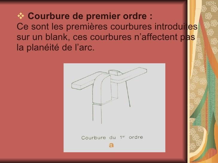 <ul><li>Courbure de premier ordre : Ce sont les premières courbures introduites sur un blank, ces courbures n'affectent pa...