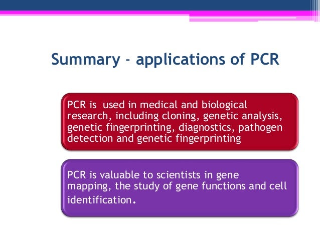 an overview of the polymearse chain reaction in the genetic science Quantitative polymerase chain reaction (q-pcr) is a method by which the   gene expression can be assessed using real-time pcr by converting a cell's.