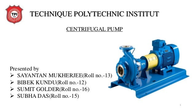 centrifugal pump project