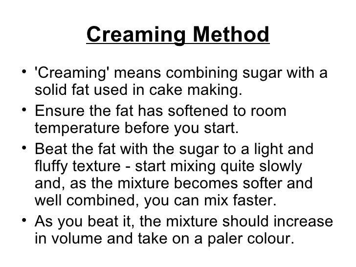 Four Cake Making Methods
