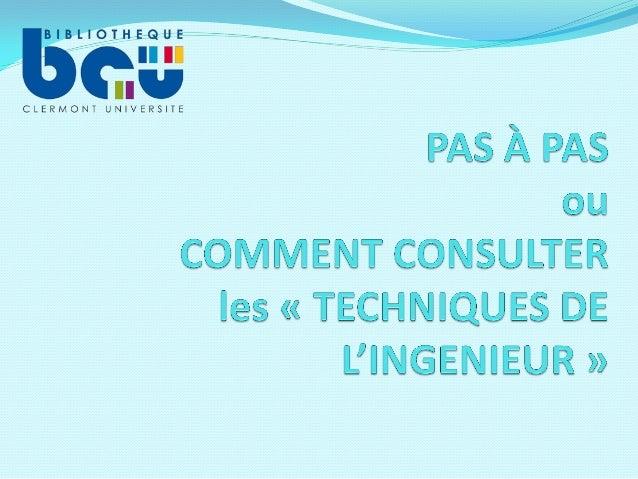 1ère étape : ouvrir le site de la Bibliothèque Clermont Université et afficher le menu déroulant de « Ressources numérique...