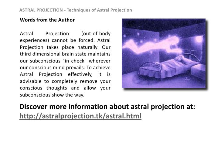 Astral projection demonstration