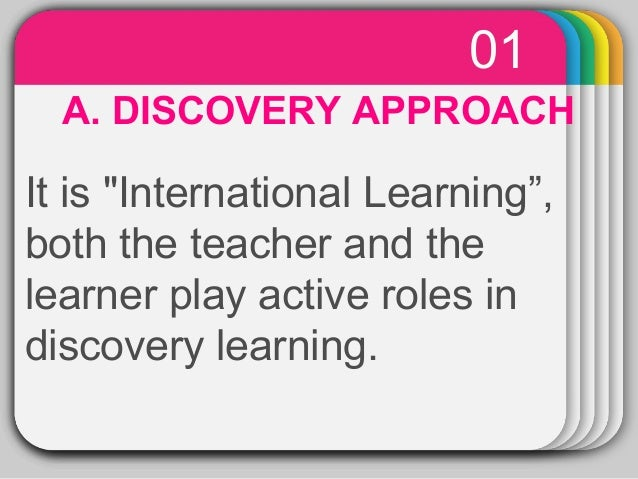 discovery learning and math teaching Discovery learning is a technique of inquiry-based learning and is considered a constructivist based approach to education it is also referred to as problem-based learning , experiential learning and 21st century learning.