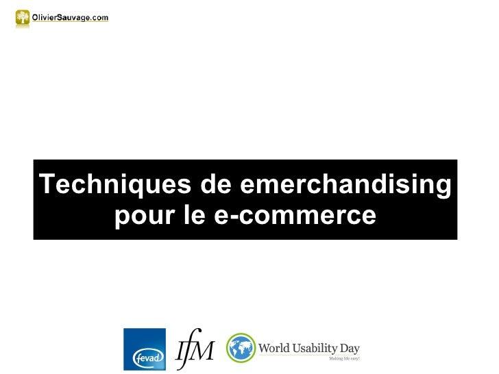 Techniques de emerchandising pour le e-commerce