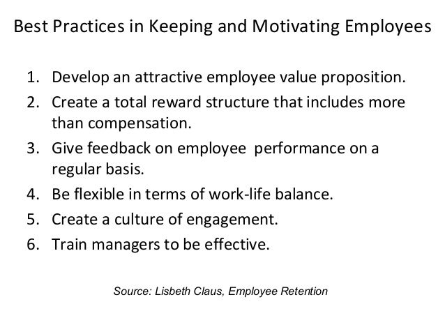 employee retention techniques Employee retention guide 3 • providing voluntary benefits: programs that can be set up with a payroll deduction no cost to employer other than administering the program.
