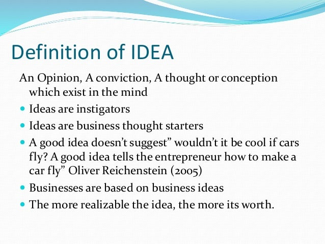 Generating Business Ideas Entrepreneur