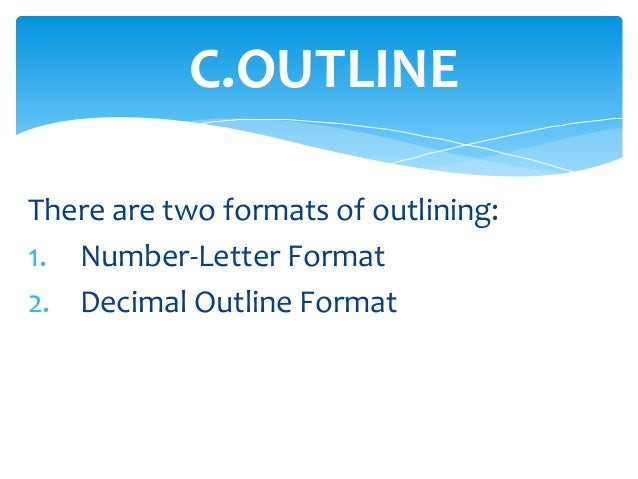 38 coutline there are two formats