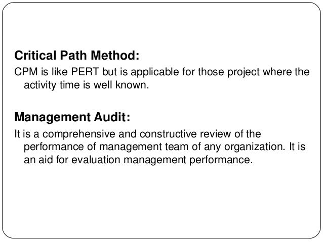 program evaluation and review techniquecritical path method essay Compare and contrast the critical path method (cpm) and the program evaluation and review technique (pert).