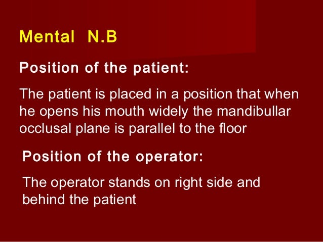 Symptoms of anaesthesia 1) Subjective Tingling and numbness of the lower lip in the injected site 2) Objective instrumenta...