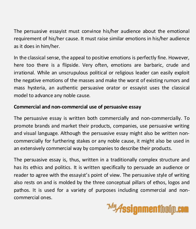 persuade essay techniques of persuasive essay writing