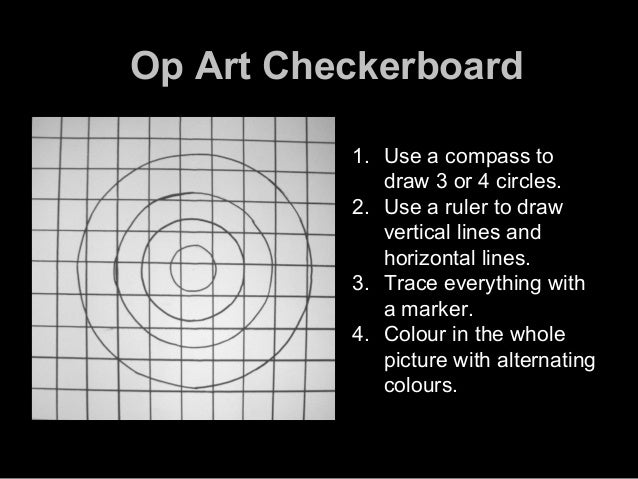 Drawing Perpendicular Lines With A Compass : Techniques op art