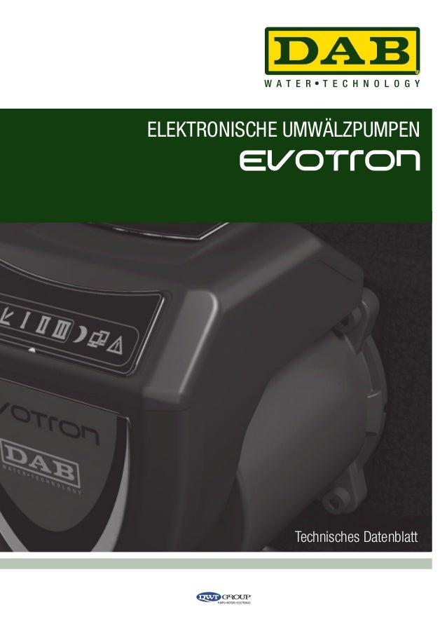 ELEKTRONISCHE UMWÄLZPUMPEN  Technisches Datenblatt