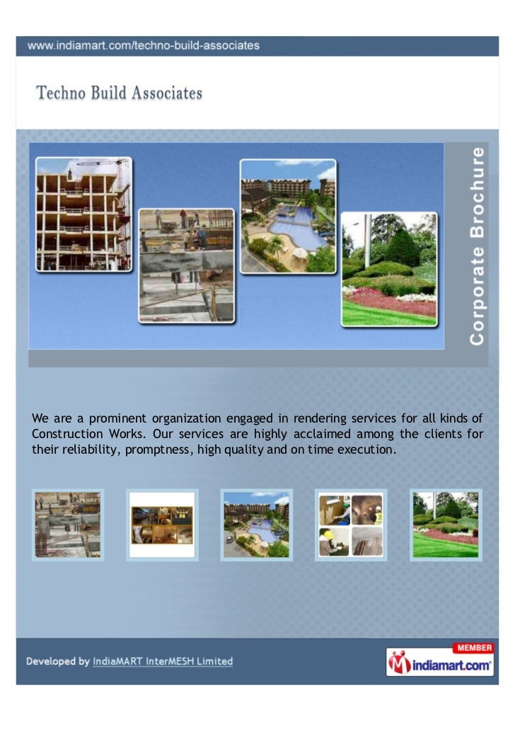We are a prominent organization engaged in rendering services for all kinds ofConstruction Works. Our services are highly ...