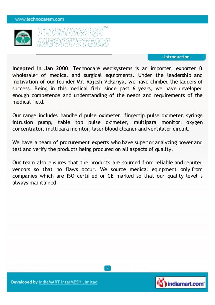 Techno Care Medi Systems, Surat, Pulse Oximeter Slide 2