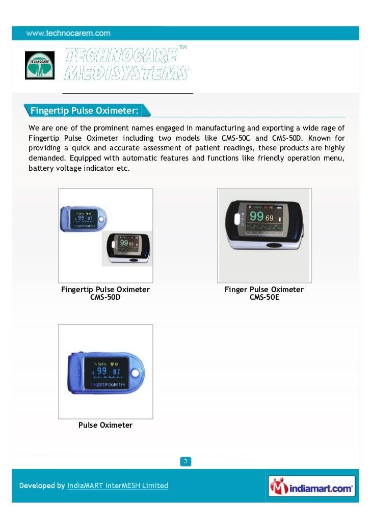 Techno Care Medi Systems, Surat, Pulse Oximeter Slide 3