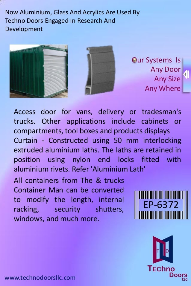 Techno doors catalog,automatic roller shutters uae,plastic