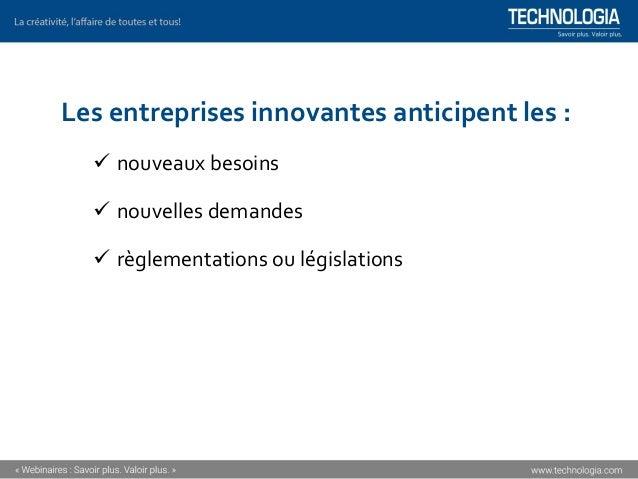▪ Créativité et innovation (CH204) Formation offerte