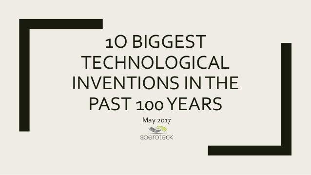 greatest technological advances