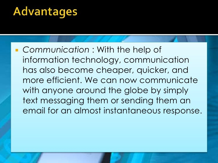 positive effects of technology on communication